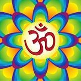 manta мистический om hinduism aum священнейший Стоковые Изображения RF