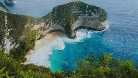 Manta-Bucht oder Kelingking-Strand, Insel Nusa Penida, Bali, Indonesien stockfotos