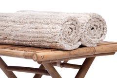 Manta de la pila del corte del lino del algodón Imágenes de archivo libres de regalías