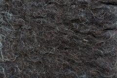 Manta de lana hecha a mano negra del fieltro Imagen de archivo