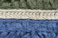 Manta de punto de las lanas Fotografía de archivo