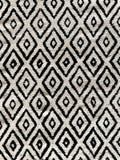 Manta de tiro blanco y negro del modelo del diamante del alto contraste fotografía de archivo libre de regalías