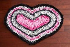 Manta de trapo en forma de corazón Imagen de archivo libre de regalías