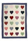 Manta del edredón del corazón Imagen de archivo libre de regalías