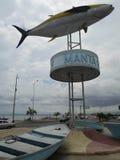 Manta Ecuador. MANTA, ECUADOR - MARCH 18, 2015: Tuna monument in the port of Manta. The city of Manta is the World Capital of Tuna Royalty Free Stock Image