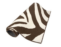 Manta modelada cebra blanco y negro Foto de archivo libre de regalías