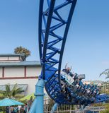 Manta Ray Roller Coaster Ride bei Seaworld San Diego Süd-Kalifornien USA Stockbilder