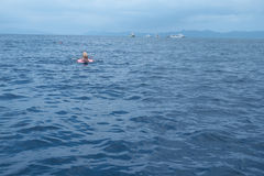 Manta Ray Watching Area, Manta City Point, in Ishigaki island, Okinawa stock images