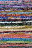 Manta rayada colorida Foto de archivo