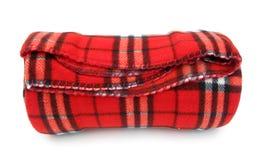 Manta roja Imagen de archivo libre de regalías