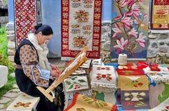Manta tradicional rumana Fotos de archivo libres de regalías