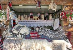 Manta tradicional rumana Fotos de archivo