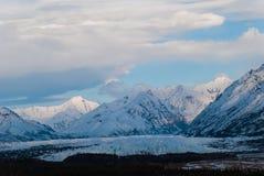 Mantanuska Glacier. The Mantanuska glacier in the spring early in the night Stock Image