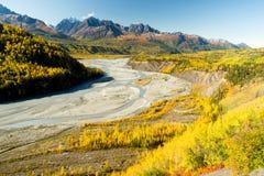 Mantanuska River Cugagch Mountain Range Alaska North America Royalty Free Stock Photography