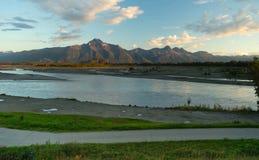 Mantanuska River Lazy Mountain Chugach Range Palmer Alaska Royalty Free Stock Image