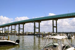 Mantanzas passerande som leder till fortet Myers Beach Royaltyfri Bild