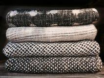 Mantas calientes de alta calidad de las lanas Imagen de archivo libre de regalías
