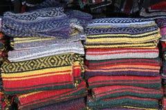 Mantas coloridas Imagen de archivo libre de regalías