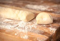 Mantas_cooking_process_3. Piece of dough for ravioli as food background Royalty Free Stock Photo