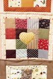 Mantas hechas a mano multicoloras del remiendo Imagen de archivo