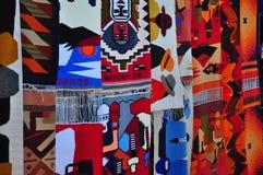 Mantas modeladas tradicionales de la alpaca Imagen de archivo libre de regalías