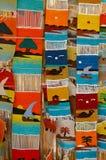 Mantas multicolores Fotos de archivo