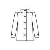 Manteau d'icône dans le style de la ligne Photo libre de droits