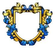 Manteau de chevalier Heraldic Family Shield de crête de bras illustration de vecteur