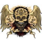 manteau de crâne des bras grunge illustration de vecteur