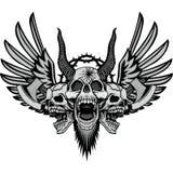 manteau de crâne des bras grunge illustration libre de droits