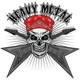 manteau de crâne des bras grunge Images libres de droits