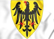 manteau de 3D Roman Empire des bras saint 1200-1300 illustration libre de droits
