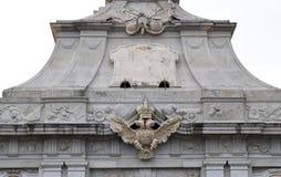 Manteau de forteresse d'Alba Carolina des bras de l'entrée principale Photo libre de droits