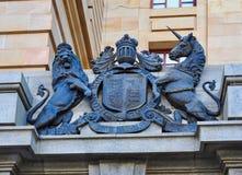 Manteau de l'Angleterre des bras en bronze, Perth, Australie occidentale photo libre de droits