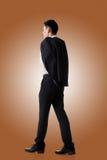 Manteau de prise d'homme d'affaires image libre de droits