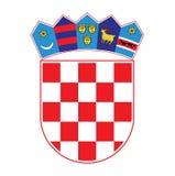 Manteau des bras de la Croatie, illustration de vecteur Images libres de droits