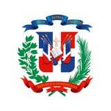 Manteau des bras de la République Dominicaine  illustration stock