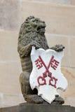Manteau des bras de la ville de Leyde, Pays-Bas Photographie stock libre de droits