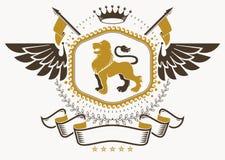 Manteau des bras héraldique faits dans la rétro conception, décorative Photos libres de droits