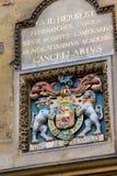 Manteau des bras médiéval dans la bibliothèque de Bodleian, Oxford Photos stock