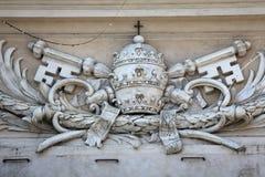 Manteau des bras papal images libres de droits