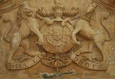 Manteau des bras royal britannique du 18ème siècle Images libres de droits