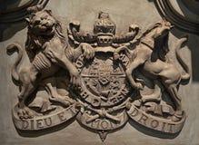 Manteau des bras royal britannique du 18ème siècle Photographie stock