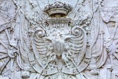 Manteau des bras royal Victor Emanuele Monument Rome Italy Image stock