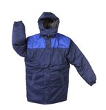 Manteau fonctionnant d'hiver avec le capot. Image stock