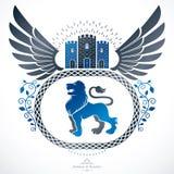 Manteau héraldique d'illustra décoratif de vecteur d'emblème de bras Photographie stock