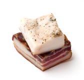 Manteca de cerdo fumada y salada Fotos de archivo libres de regalías
