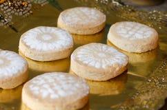 Mantecados i Polvorones, typowi Hiszpańscy Bożenarodzeniowi cukierki Zdjęcia Stock