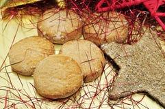 Mantecados, pasticcerie tipiche di natale in Spagna fotografie stock
