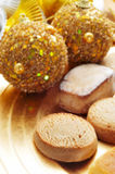 Mantecados and polvorones, typical christmas sweets in Spain Royalty Free Stock Images